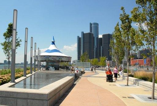 Detroit river front