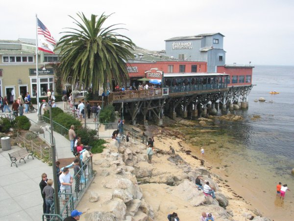 Google photo of one end of Cannery Row, Monterey