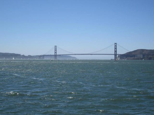 Golden Gate Bridge as seen from the ferry