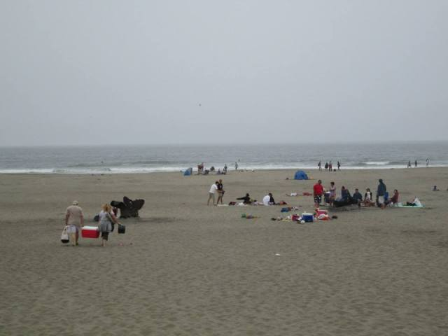 Campfires and visitors to Ocean Beach